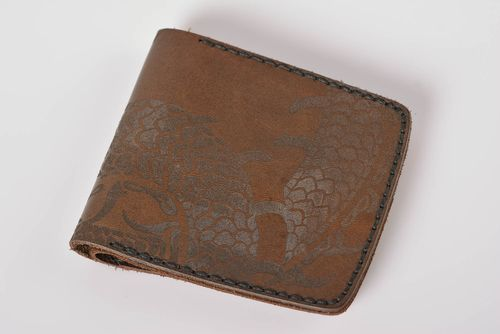 Handmade leather wallet handmade leather goods mens wallet presents for men - MADEheart.com