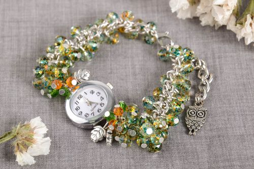 Stylish handmade watch ideas wristwatch bracelet beaded bracelet designs - MADEheart.com