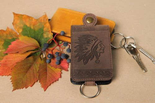 Unusual handmade leather key purse key case fashion accessories gift ideas - MADEheart.com