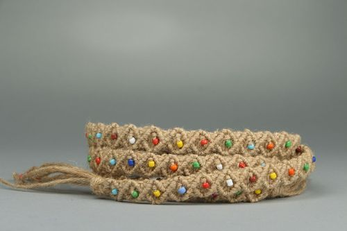 Braided jute belt Rainbow - MADEheart.com