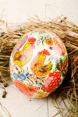 Handmade Easter painted egg stylish beautiful souvenir decorative use only - MADEheart.com