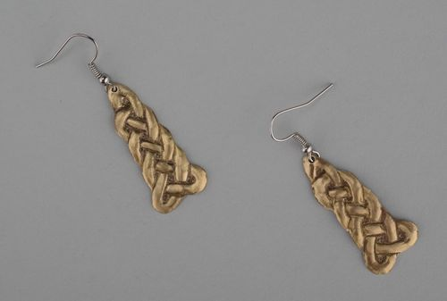 Earringas made of brass with gilding - MADEheart.com