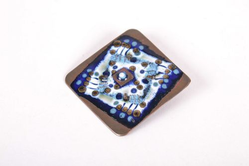Square Copper Brooch - MADEheart.com