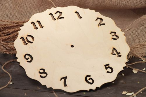 Handmade plywood craft blank for decoration round large interior wall clock   - MADEheart.com