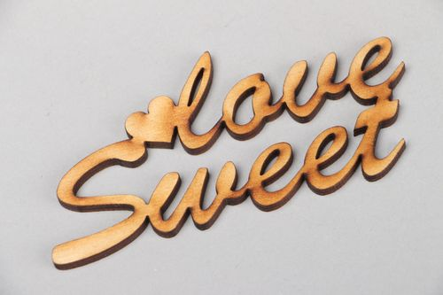 Beautiful plywood craft blank Sweet Love - MADEheart.com