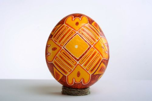 Ostrich pysanka Tree of Life - MADEheart.com