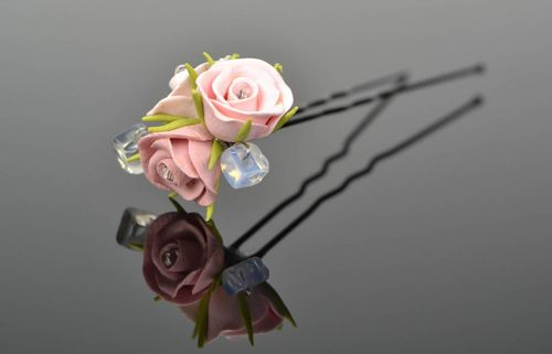 Hairpin with flowers - MADEheart.com