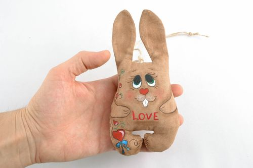 Soft interior pendant toy with vanilla aroma Hare - MADEheart.com