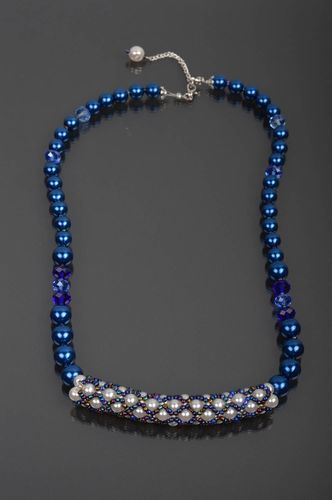 Beautiful handmade beaded necklace neck accessories for girls gifts for her - MADEheart.com