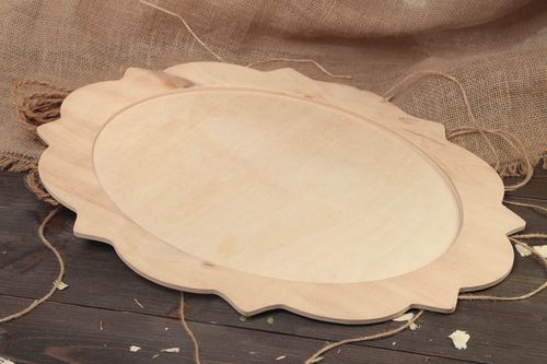 Handmade large plywood craft blank for dish mirror or tray art supplies - MADEheart.com