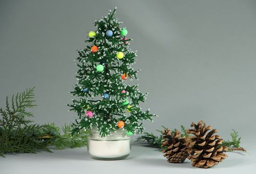 Decorative Christmas tree for New Year - MADEheart.com
