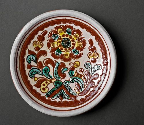 Decorative clay plate - MADEheart.com