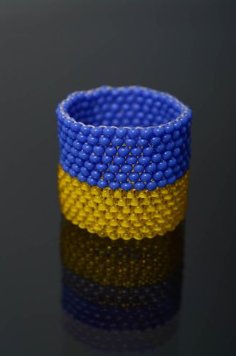 Beaded scarf ring - MADEheart.com
