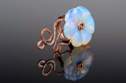 Ring Stone Flower - MADEheart.com