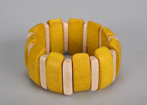 Striped yellow wrist bracelet - MADEheart.com