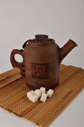 Handmade beautiful teapot designer ceramic teapot stylish kitchenware gift - MADEheart.com