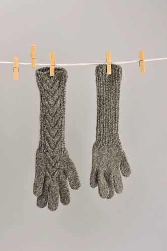Hand knit mittens wool accessories womens gloves gifts for women warm mittens - MADEheart.com