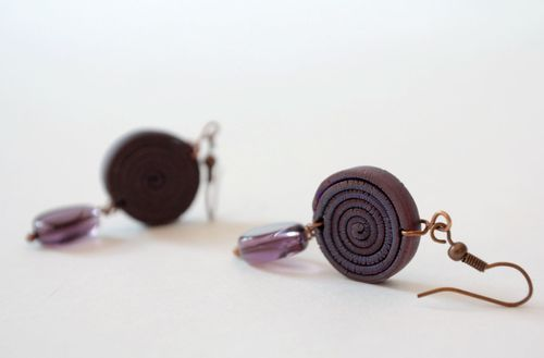 Earrings, made of polymer clay - MADEheart.com