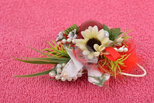 Beautiful handmade artificial flower for DIY jewelry making - MADEheart.com