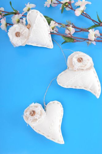 Unusual handmade wall hanging soft toy modern design decorative use only - MADEheart.com