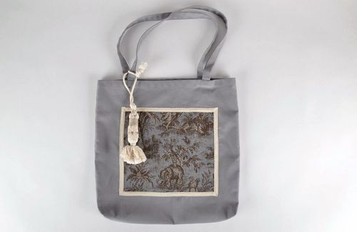 Grey womens handbag - MADEheart.com