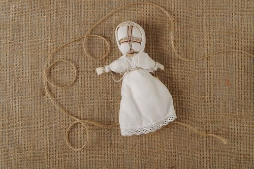 Slavic doll in white dress - MADEheart.com