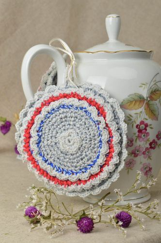 Beautiful handmade crochet potholder nice pot holder design home textiles - MADEheart.com
