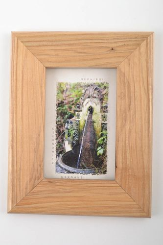 Beautiful cute handmade rectangular wooden frame for pictures and photos - MADEheart.com