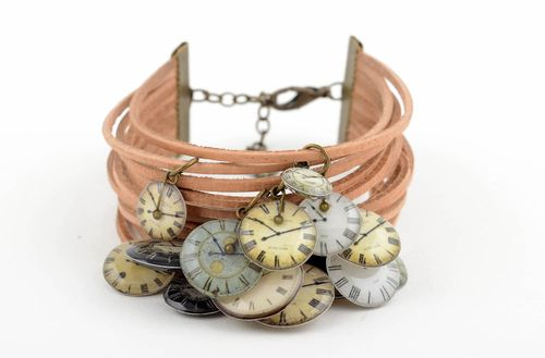 Beautiful handmade leather bracelet cord bracelet cool jewelry designs - MADEheart.com