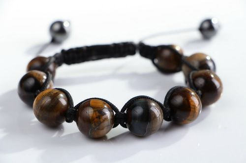 Bracelet with tigers eye stone - MADEheart.com