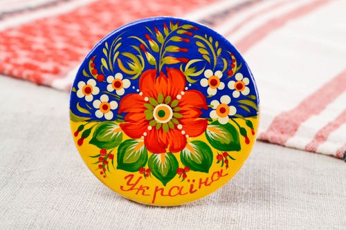 Wooden fridge magnet handmade ethnic souvenirs for home decorative use only - MADEheart.com