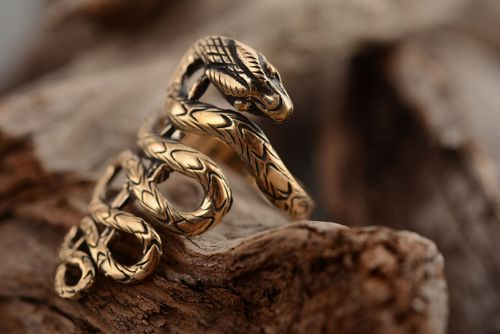 Unusual bronze ring - MADEheart.com