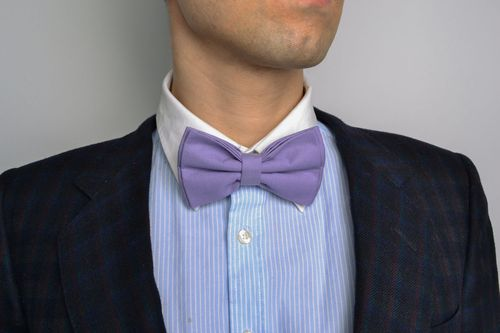 Purple bow tie for suit - MADEheart.com