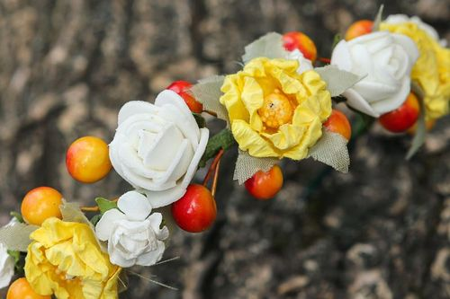Headband, head wreath Physalis - MADEheart.com
