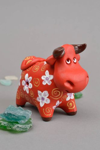 Handmade ceramic whistle clay statuette clay whistle handmade figurine for kids - MADEheart.com