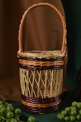 Beautiful handmade woven cachepot interior decorating gift ideas for decor only - MADEheart.com