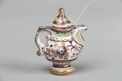 Small Painted Kettle - MADEheart.com