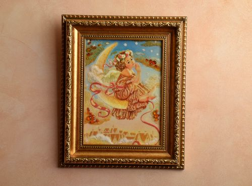 Amber decorated painting Angel - MADEheart.com