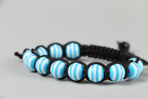 Braided bracelet with beads - MADEheart.com