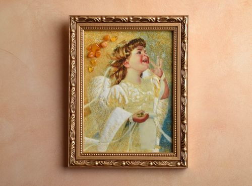 Amber decorated wall painting Angel - MADEheart.com