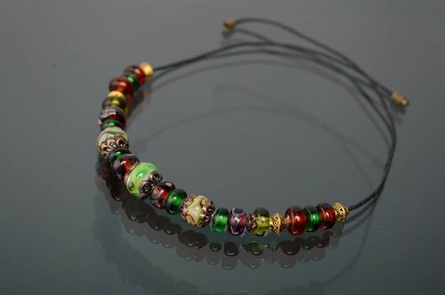 Beautiful lampwork glass necklace - MADEheart.com