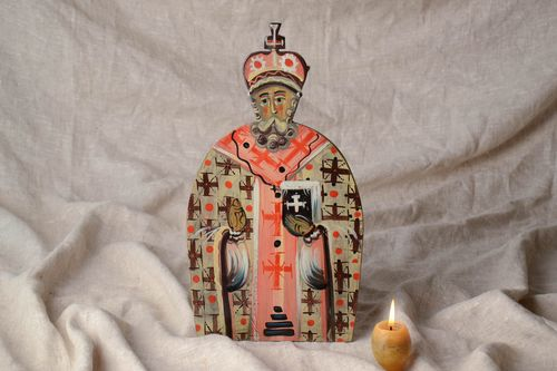Icon of Saint Nikolas The Wonderworker  - MADEheart.com