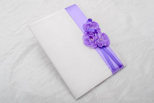 Handmade notepad wedding notepad for wishes book for wishes wedding accessory - MADEheart.com