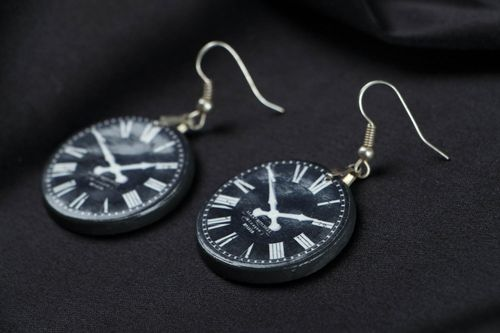 Earrings Clock - MADEheart.com