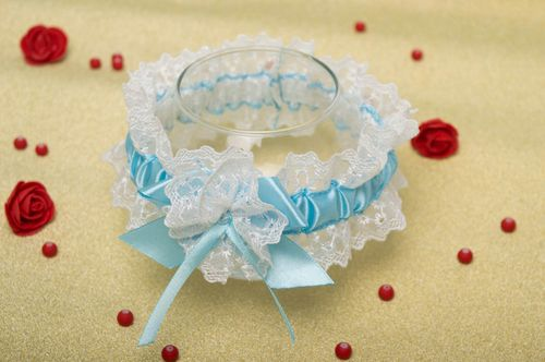 Beautiful handmade bridal garter edding accessories wedding outfit for her - MADEheart.com