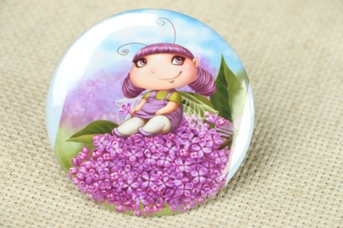 Pocket mirror with funny print - MADEheart.com