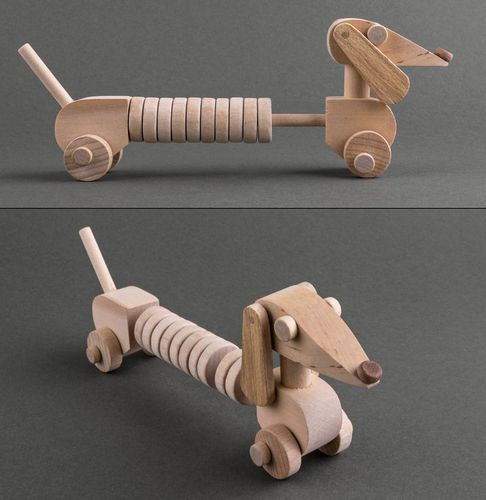 Wooden abacus-toy Dachshund - MADEheart.com