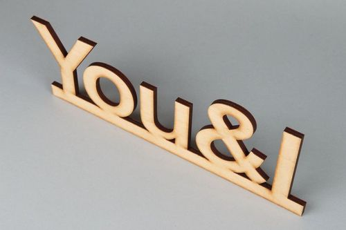Chipboard lettering You & I - MADEheart.com