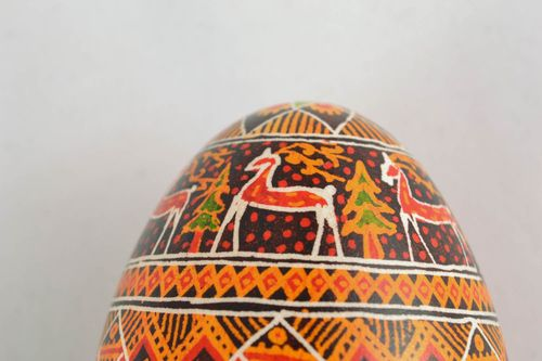 Painted goose egg in Ukrainian style - MADEheart.com