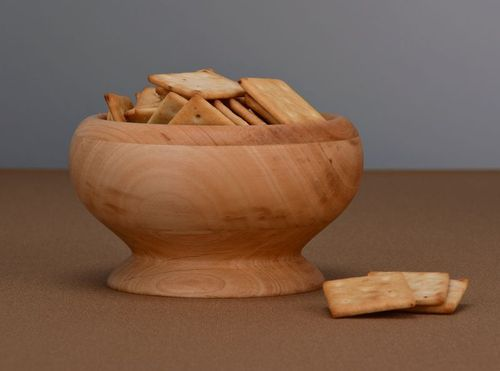 Wooden bowl with glass inner surface - MADEheart.com